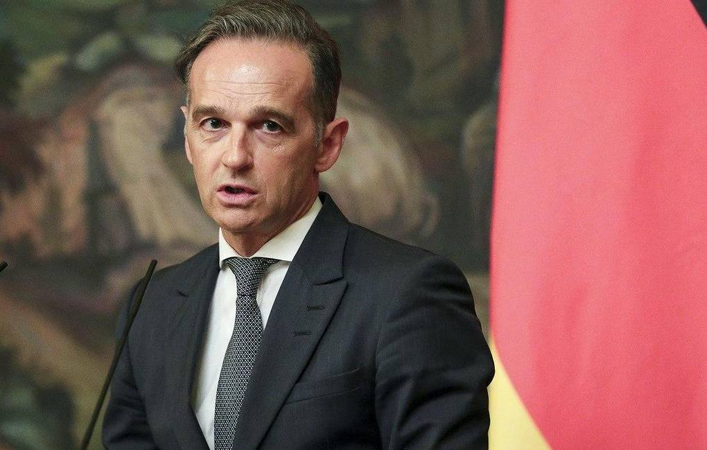 German Foreign Minister Heiko Maas Russian Foreign Ministry Press Service via AP