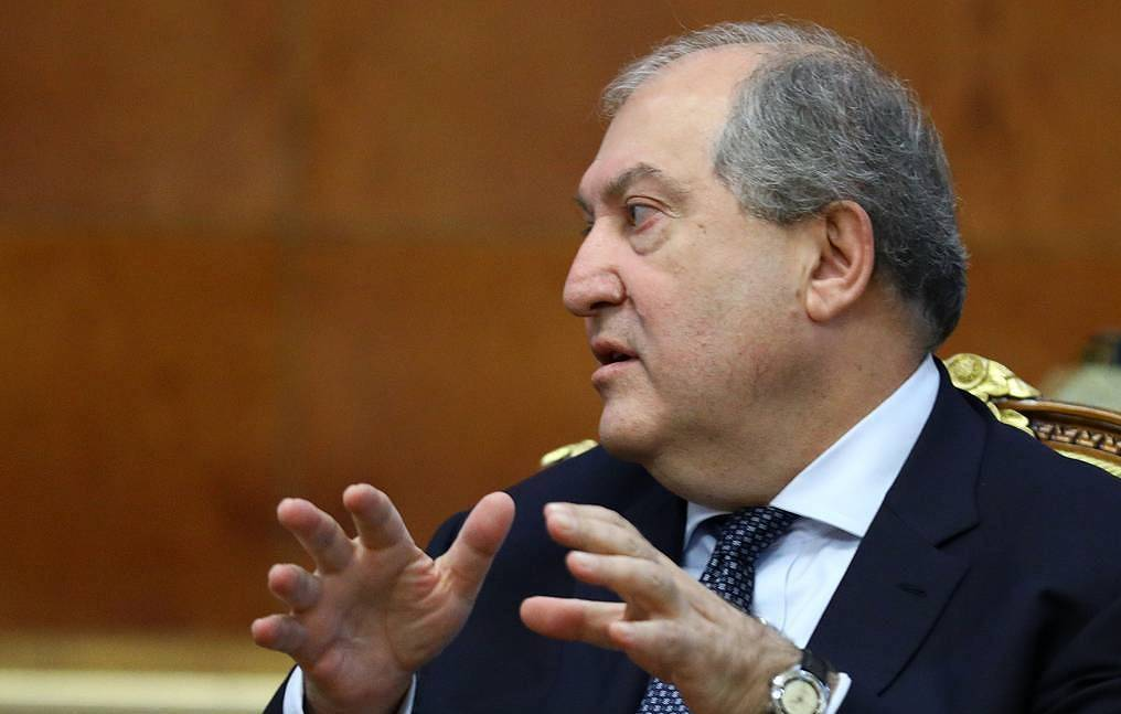 Armenian President Armen Sarkissian Russian Ministry of Internal Affairs/TASS