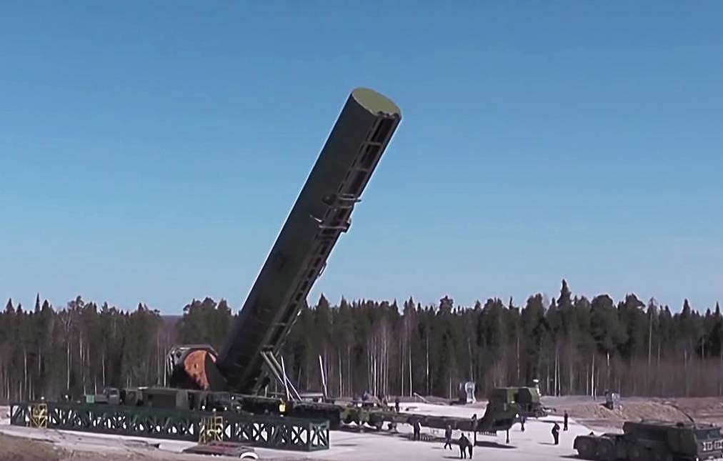 The RS-28 Sarmat Russian advanced silo-based system  The press service of the Russian Defense Ministry/TASS