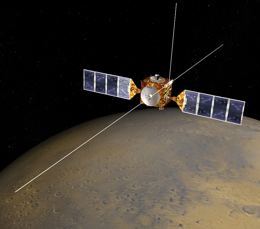 Аппарат Mars Express NASA/JPL/Corby Waste