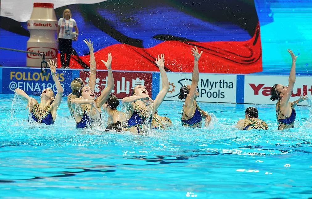 Russian synchro swimmers win gold of 2019 FINA World Championships in Team Free event