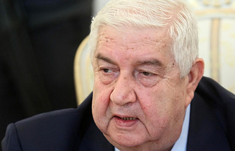 Syrian Minister of Foreign Affairs Walid Muallem