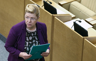 Head of  State Duma Committee on Family, Women and Children Yelena Mizulina