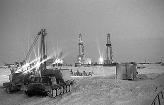 Gas extraction in Russia's Yamal region (archive)