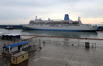 A ship-hotel for guests visiting the Olympic Games