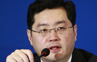 Chinese Foreign Ministry spokesman Qin Gang (archive)