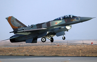 F-16 fighter jet of the Israeli air force (archive)