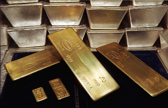 Russia's gold and foreign exchange reserves  went down by $1.4 billion over a week