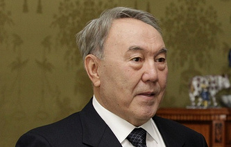 The prasident of Kazakhstan Nursultan Nazarbayev