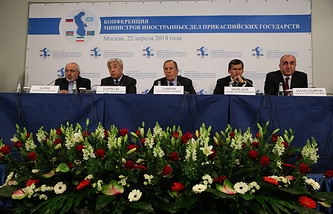 Foreign ministers of the five Caspian littoral states — Iran, Kazakhstan, Russia, Turkmenistan, Azerbaijan