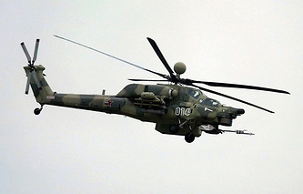 Russian military helicopter MI-28NE