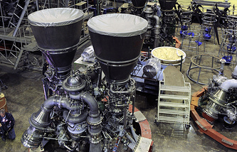 Russian RD-180 liquid-fuel rocket engines