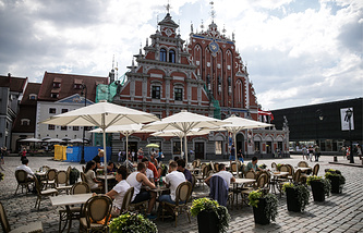 A view of central Riga