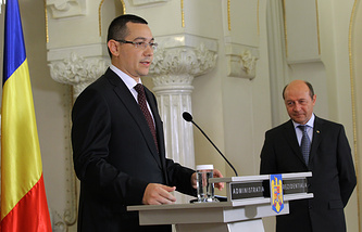 Victor Ponta and Traian Basescu
