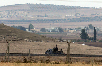 Turkey-Syria border, near Kobani, Syria