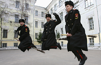 Actors seen during the shooting of Russian TV series Cadets
