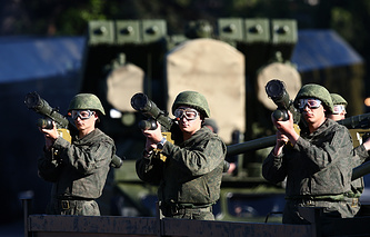 Victory Day military parade in Crimea