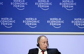 Vladimir Putin at the World Economic Forum in 2009