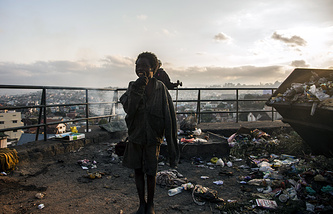 A homeless child in Madagascar