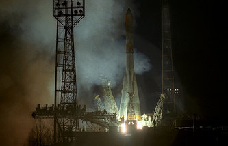 Soyuz carrier rocket at Plesetsk space site (archive)