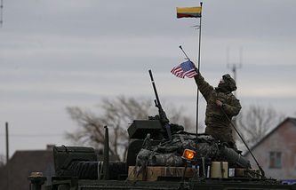 A US soldier in Lithuania
