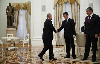 Russian President Vladimir Putin at a meeting with foreign ministers of the Shanghai Cooperation Organization