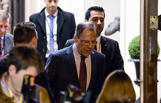 Russian Foreign Minister Sergei Lavrov after a meeting of foreign ministers of the Normandy Four group in Berlin (archive)