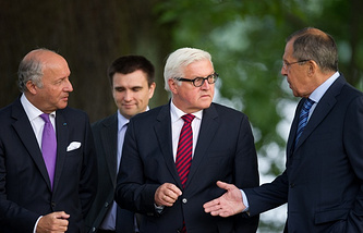 Foreign ministers of France, Ukraine, Germany and Russia