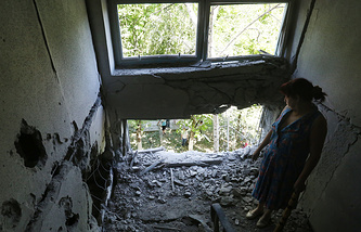 Consequences of shelling in Eastern Ukraine