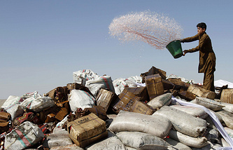 Confiscated drugs in Afghanistan