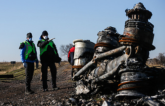 The site of MH17 crash in Donbas