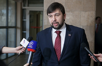 DPR's envoy to the Contact Group talks Denis Pushilin