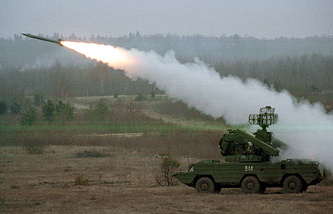 Osa missile system fired