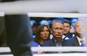 Russian president Vladimir Putin at boxing match Fedor Emelianenko vs Jeff Monson (archive)