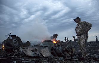 The site of MH17 crash in Donetsk region, Ukraine