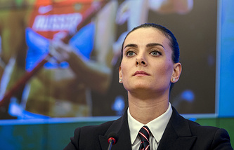 Two-time Olympic pole vault champion Yelena Isinbayeva