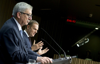 European Commission's President Jean-Claude Juncker and European Council President Donald Tusk