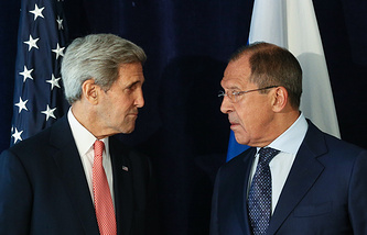 US and Russian Foreign Ministers John Kerry and Sergey Lavrov