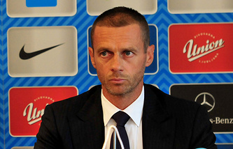 Aleksander Ceferin, the head of the Football Association of Slovenia