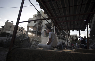 Palestinians in Gaza City (archive)
