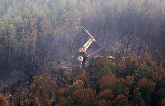The Il-76 crash site in Irkutsk region