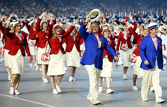 Russian Olympic team at the Opening Ceremony of the Beijing 2008 Olympic Games