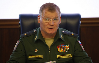 Russian Defense Ministry spokesman, Major General Igor Konashenkov
