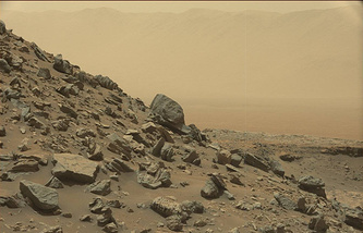 A sloping hillside on Mount Sharp as pictured by NASA's Curiosity Mars rover