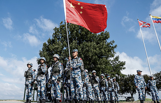 Chinese soldiers at 2016 International Army Games organised by the Russian Defence Ministry