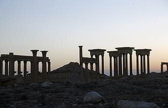 The ancient city of Palmyra in Tadmur District, Homs Governorate, Syria
