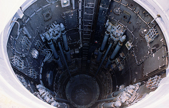 Interior view of a pit with strategic missile