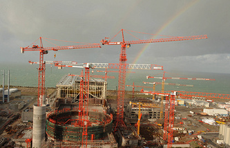Construction site of th EPR third generation nuclear reactor in Flamanville, NW France