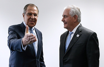 Russian Foreign Minister Sergey Lavrov and United States' new Secretary of State Rex Tillerson