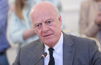 United Nations' special envoy for Syria Staffan de Mistura